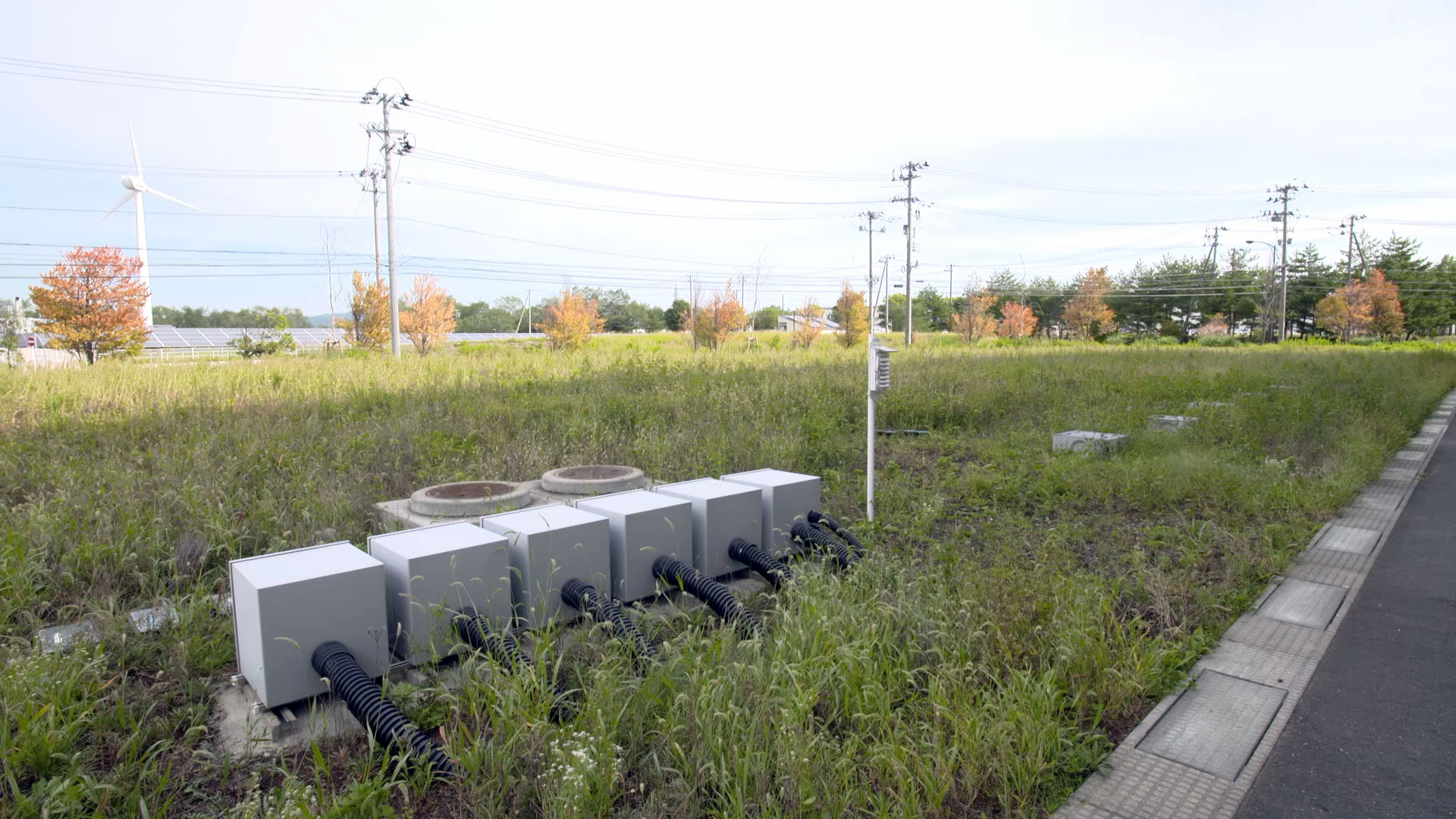 Shallow geothermal demonstration field